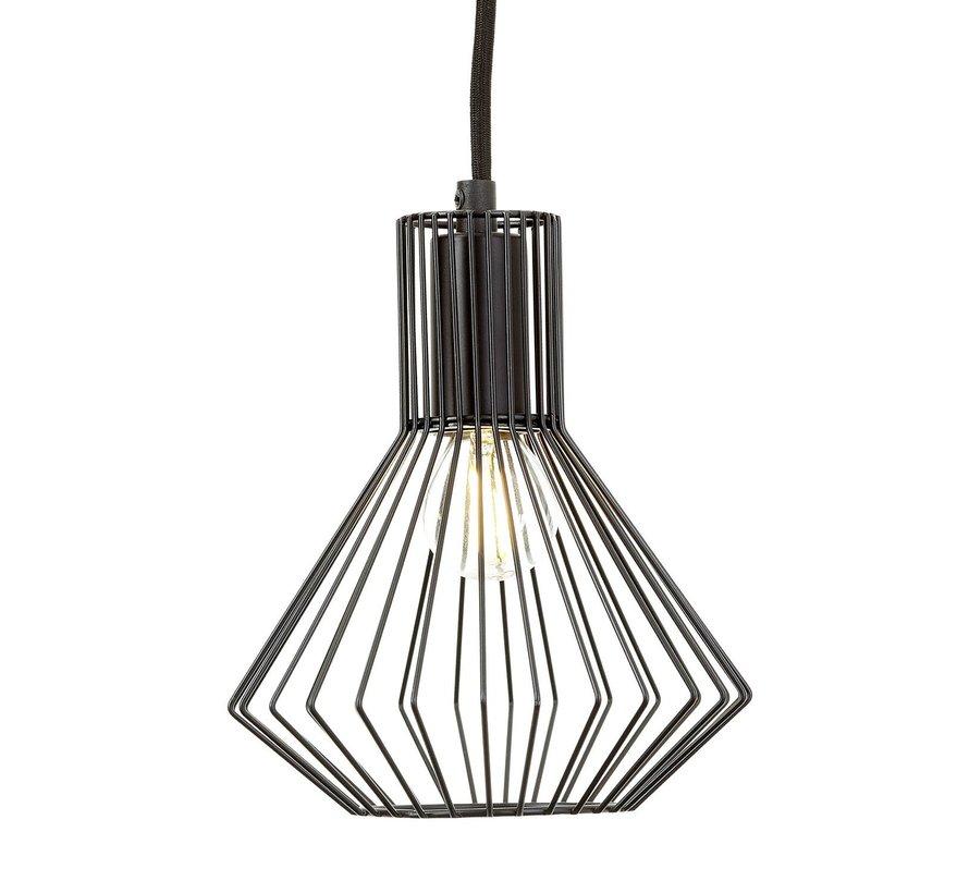 Brilliant industriële 3-lichts hanglamp Dalma - zwart