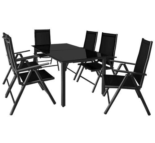 Generic Aluminium Tuinset Bern antraciet 6+1 - Set