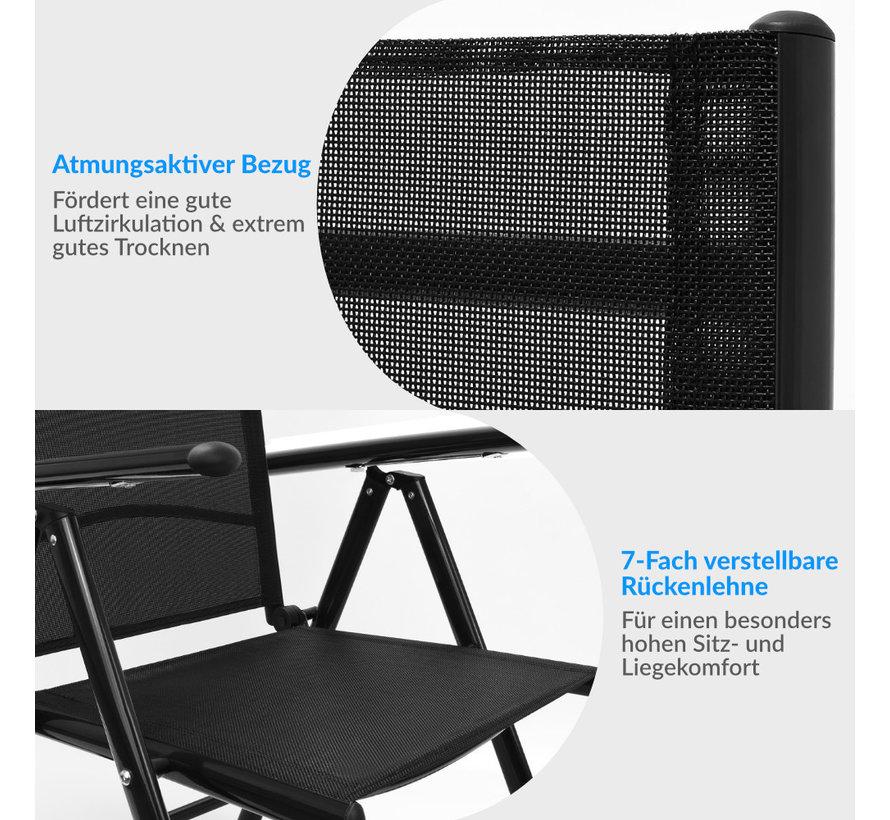 Aluminium Tuinset Bern antraciet 6+1 - Set