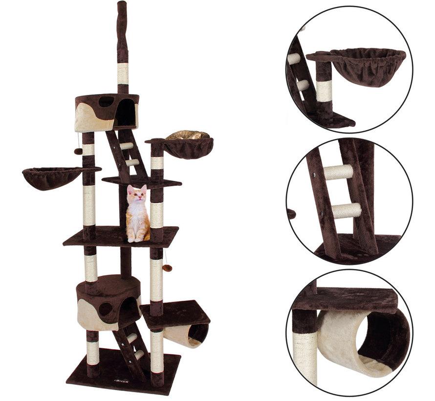 Deuba Kattenboom, plafondhoogte 240 - 260 cm Bruin