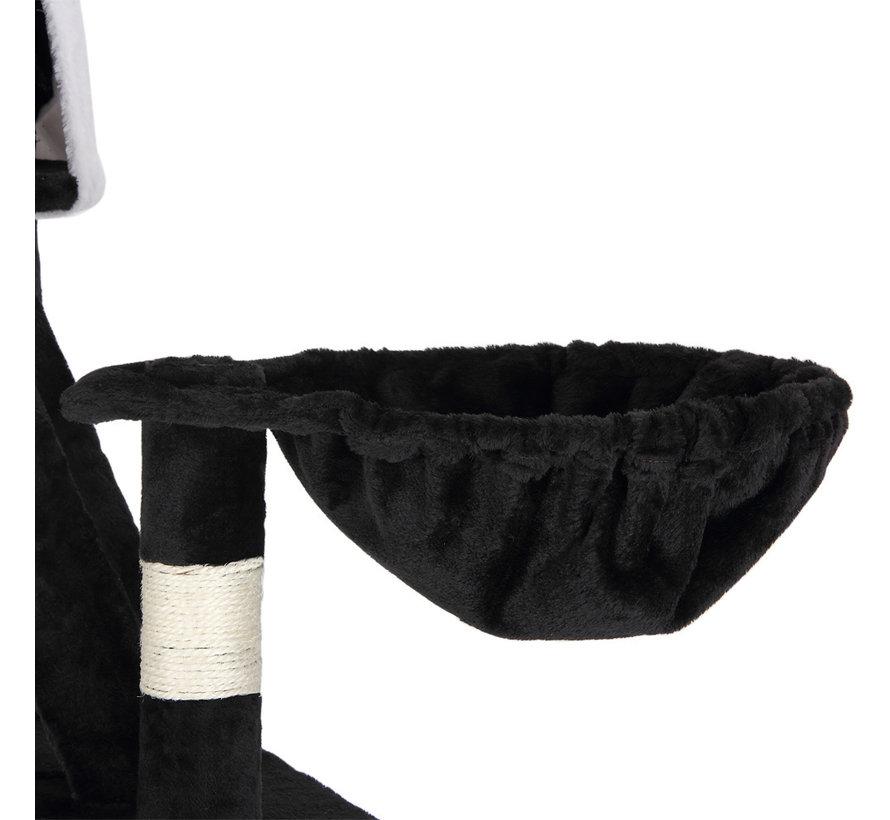 Deuba Kattenboom, plafondhoogte 240 - 260 cm zwart-wit