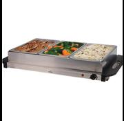 Excellent electrics Buffetwarmer warmhoudplaat RVS 300W 53 x 35 x 10cm