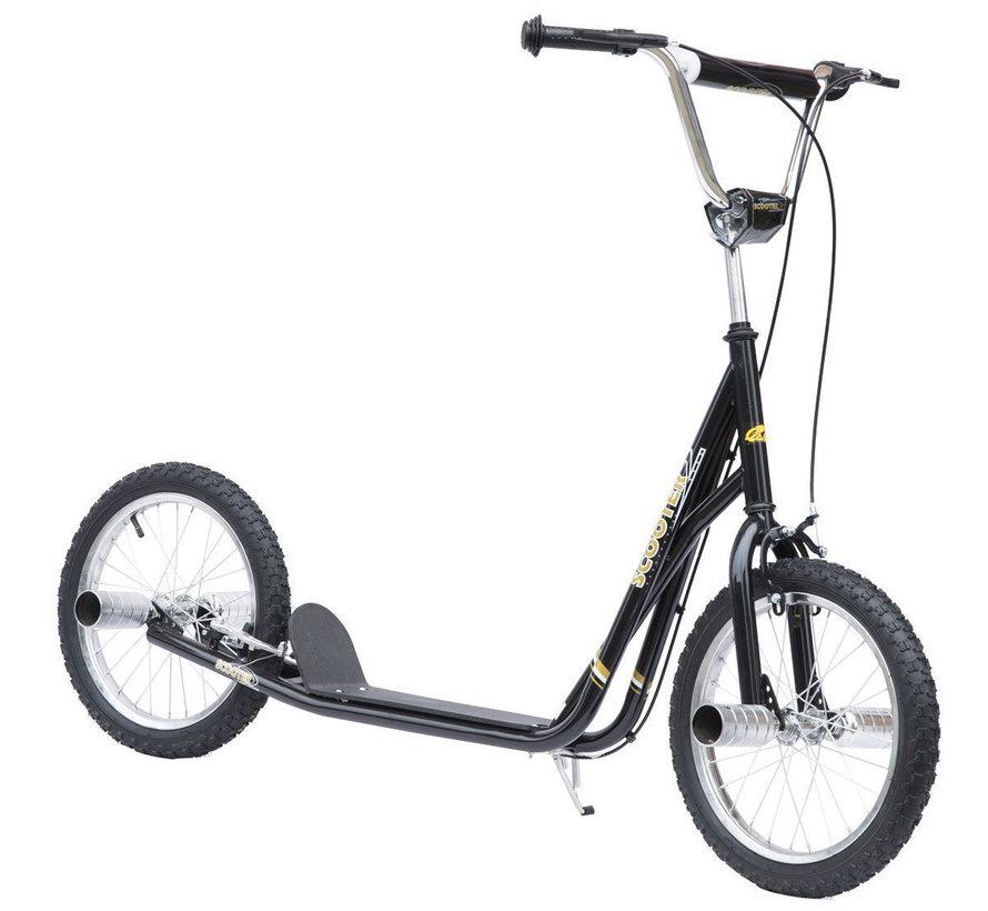 HOMCOM Kinder City scooter Stuntstep 16 inch zwart