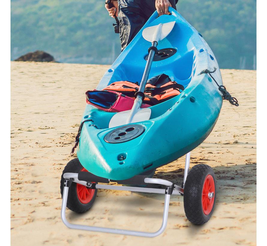 HOMCOM Transportwagen voor surfboard of kajak met luchtbanden tot 90kg