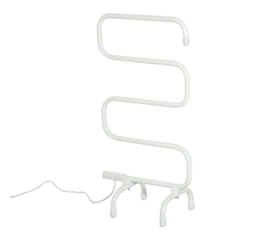 HOMCOM Elektrische handdoekdroger vrijstaand melkwit 50 x 30 x 95cm