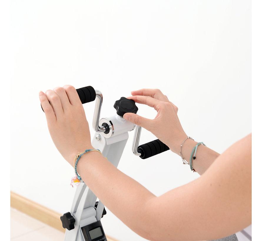 HOMCOM Hometrainer fietstrainer voor senioren wit