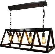 Brilliant Brilliant hanglamp Matrix zwart staal 4xE27