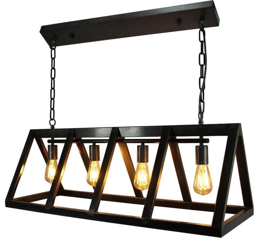 Brilliant hanglamp Matrix zwart staal 4xE27