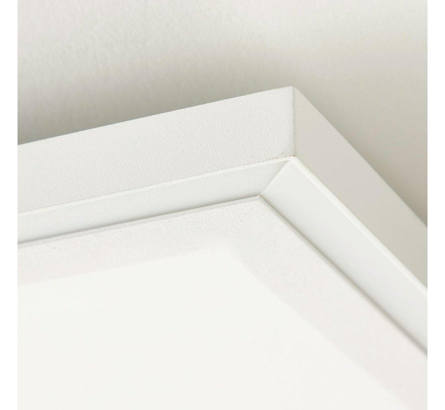 Briljant lamp Lanette - LED plafondpaneel 60x60cm wit