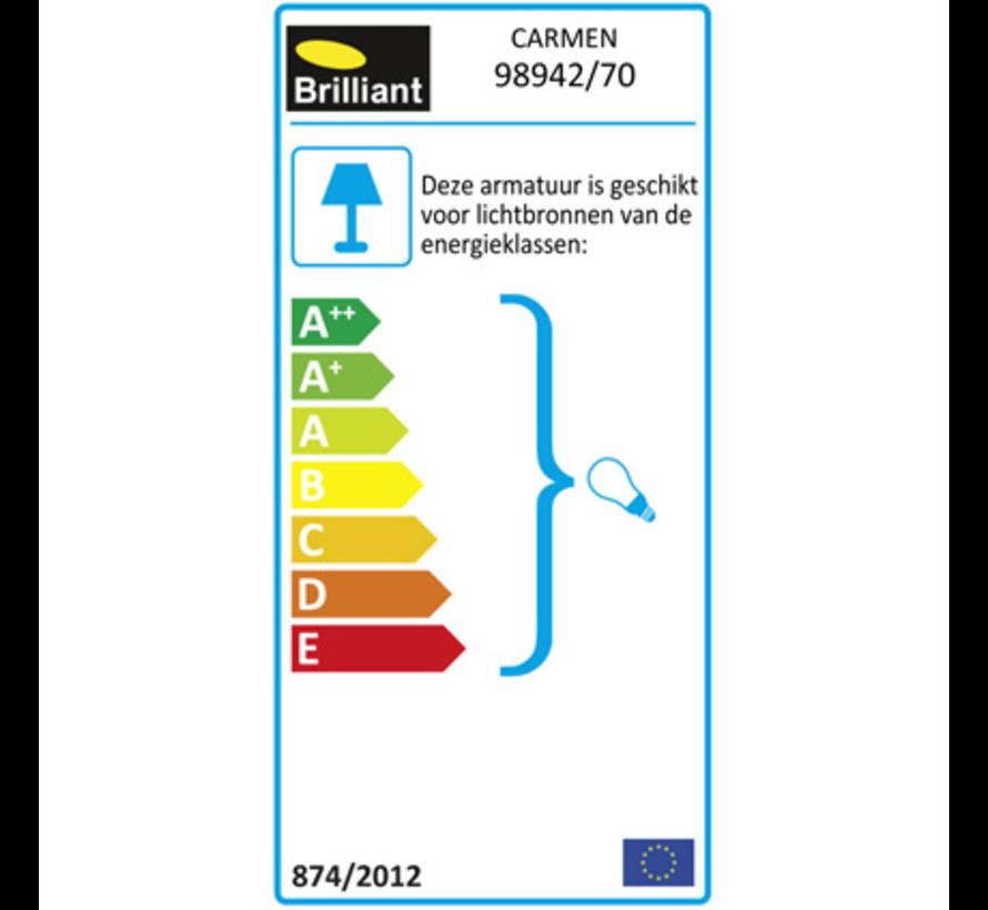 Brilliant CARMEN Vloerlamp 2xE27 Grijs