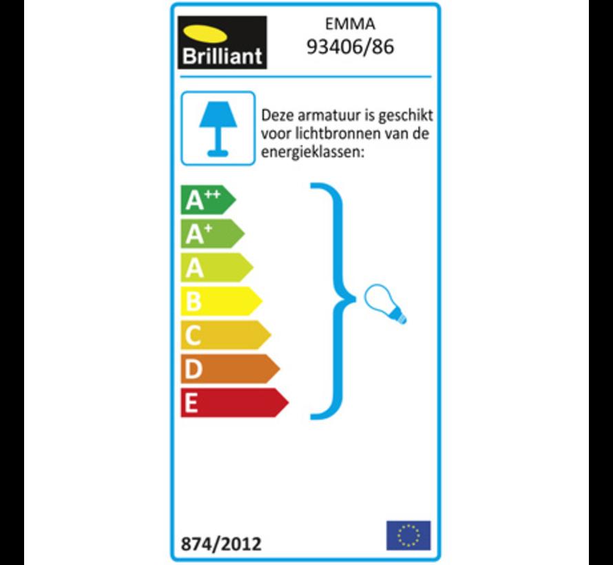 Brilliant EMMA Hanglamp E27 Zwart