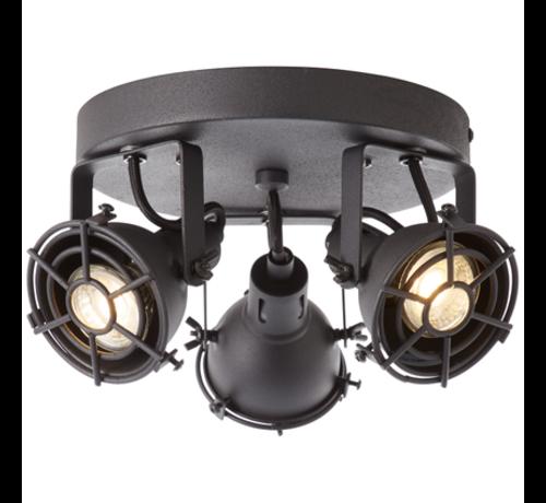Brilliant Brilliant JESPER Spotlamp 3xGU10 Warmwit Zwart