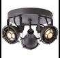 Brilliant JESPER Spotlamp 3xGU10 Warmwit Zwart