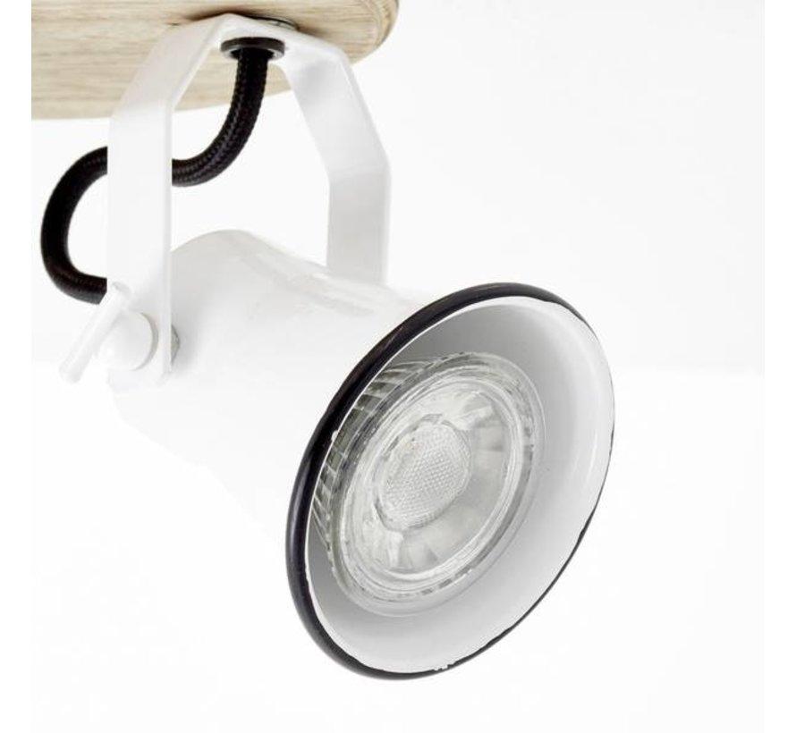 Brilliant SEED Plafondlamp 3xGU10 Hout Wit