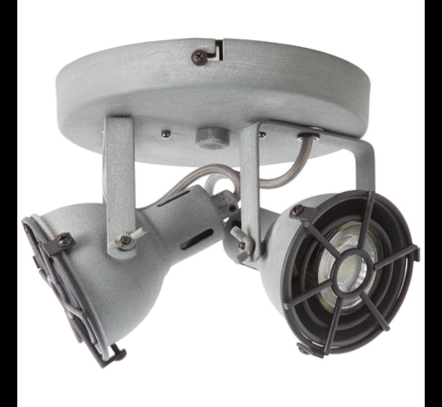Brilliant JESPER Spotlamp 2xGU10 4W Warmwit Grijs
