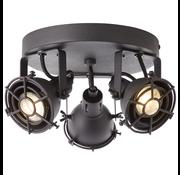 Brilliant Brilliant JESPER Spotlamp 2xGU10 4W Warmwit Zwart