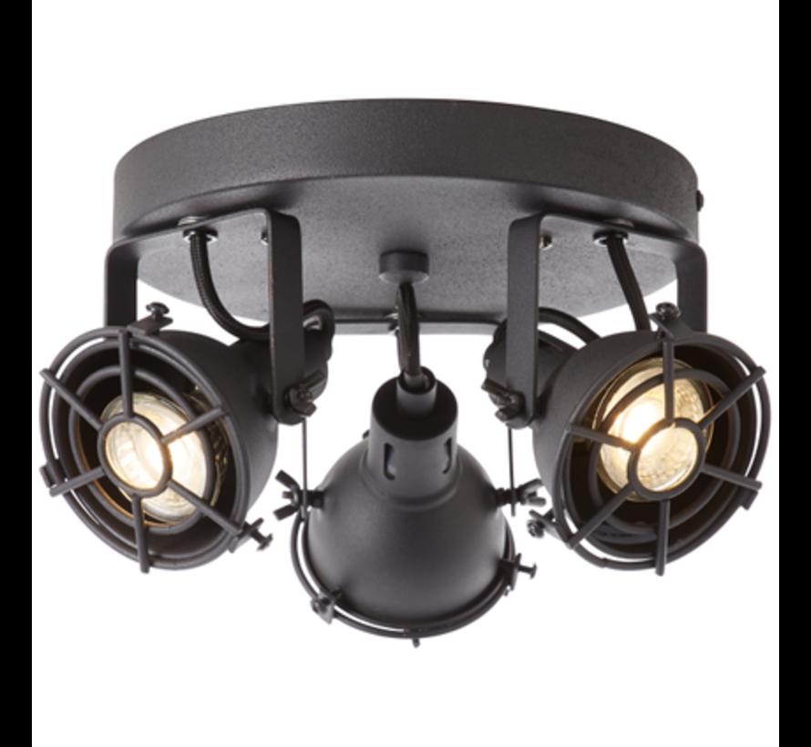 Brilliant JESPER Spotlamp 2xGU10 4W Warmwit Zwart