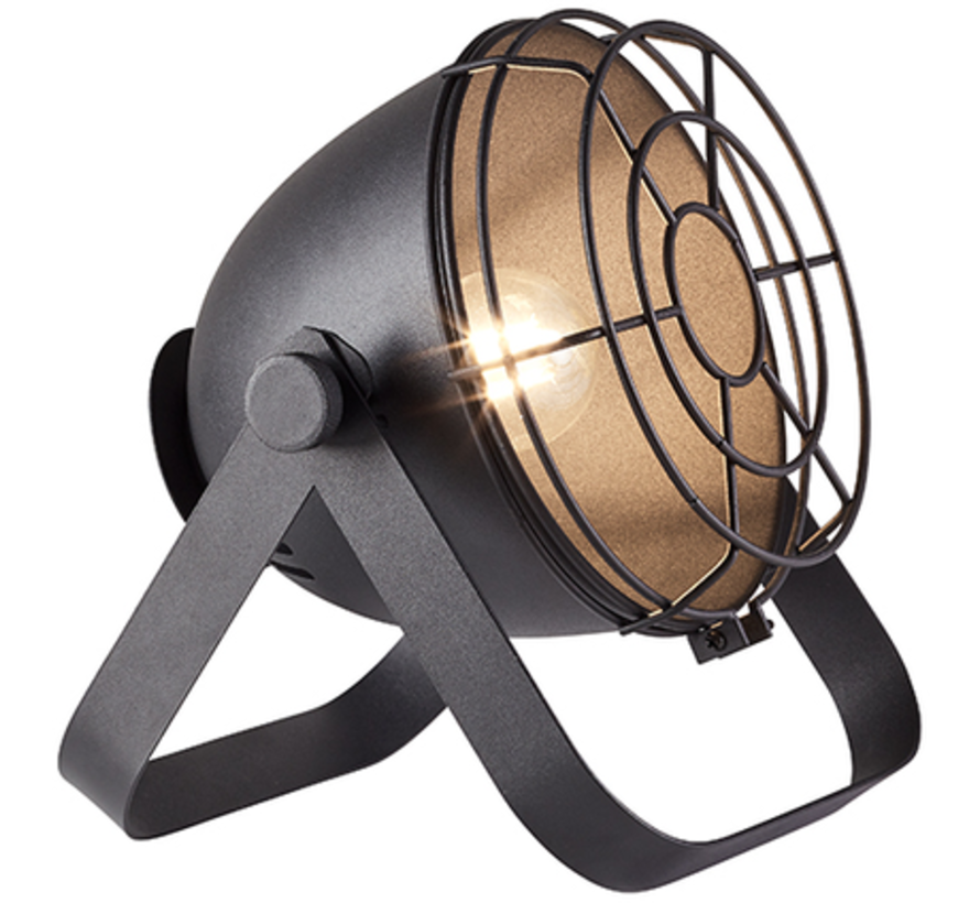 Brilliant BO Tafellamp E27 Zwart