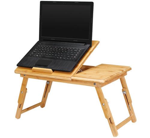 Deuba Deuba Laptoptafel Opklapbaar -  bamboe -  bedtafel