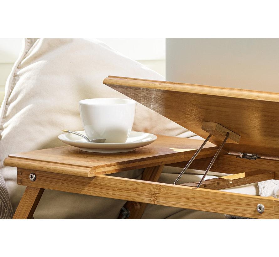 Deuba Laptoptafel Opklapbaar -  bamboe -  bedtafel