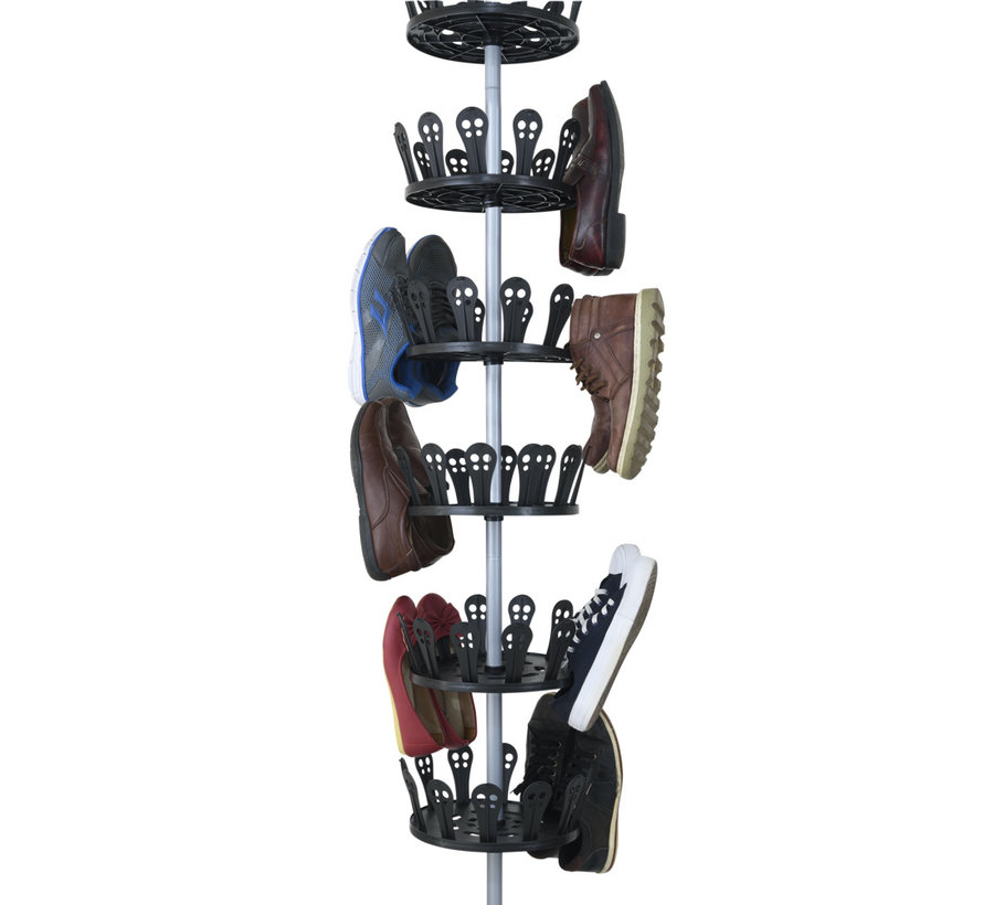 Deuba XXL schoen carrousel voor 96 schoenen in roestvrij staal