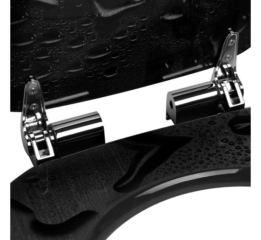 Deuba Toiletbril Waterdruppels met softclosing mechanisme en roestvrijstalen scharnieren