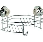 EDCO Doucherek- hangend - Bath & Shower - bevestiging zonder boren - zuignappen - hoek