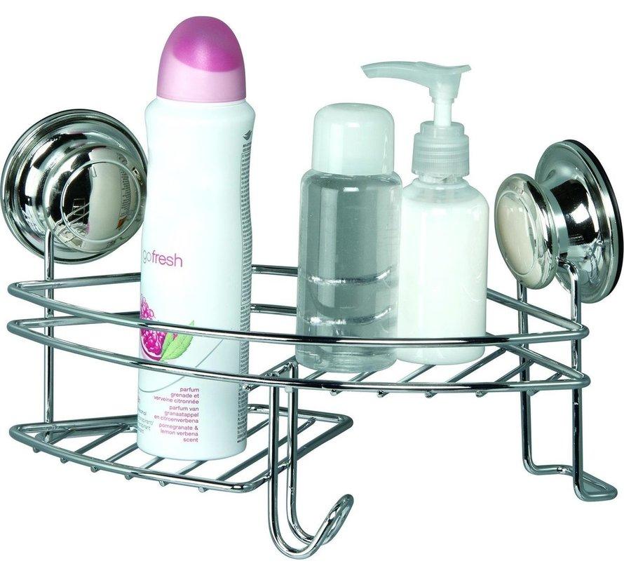 Doucherek- hangend - Bath & Shower - bevestiging zonder boren - zuignappen - hoek