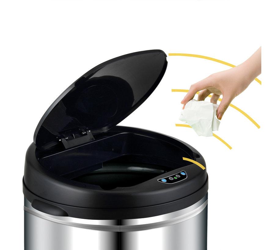 Deuba Sensor vuilnisbak roestvrij staal 30 liter