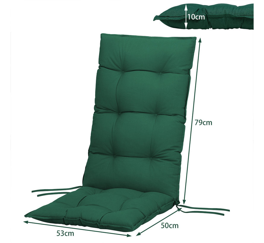 Detex Zitkussenset van 6 Cozy Vanamo Groen 129x53x10cm