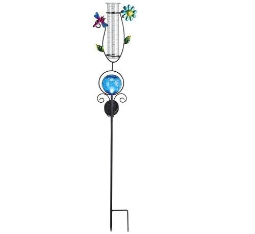Deuba Deuba Zonne-energie-verlichting met regenmeter blauw