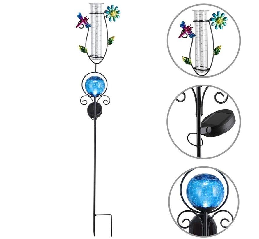 Deuba Zonne-energie-verlichting met regenmeter blauw