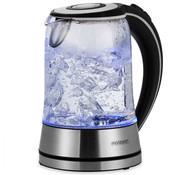 Deuba Deuba Waterkoker zilver/zwart glas/roestvrij staal 1,7L