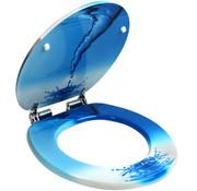 Deuba Deuba WC-bril Waterslang - soft close roestvrijstalen scharnieren