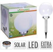 Pro Garden SOLARBAL 25CM WIT WW LED