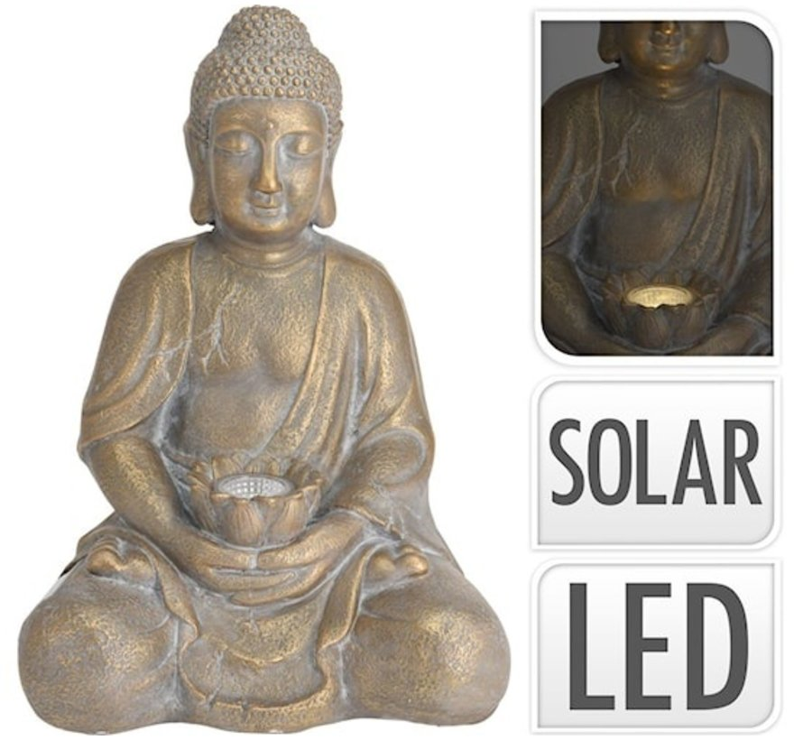 Boeddha Goud 31,5x27x44cm