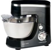Dunlop Dunlop keukenmachine - 5l- RVS kom - 800 watt - Zwart/zilver - klopper, garde en deeghaak - CY-617
