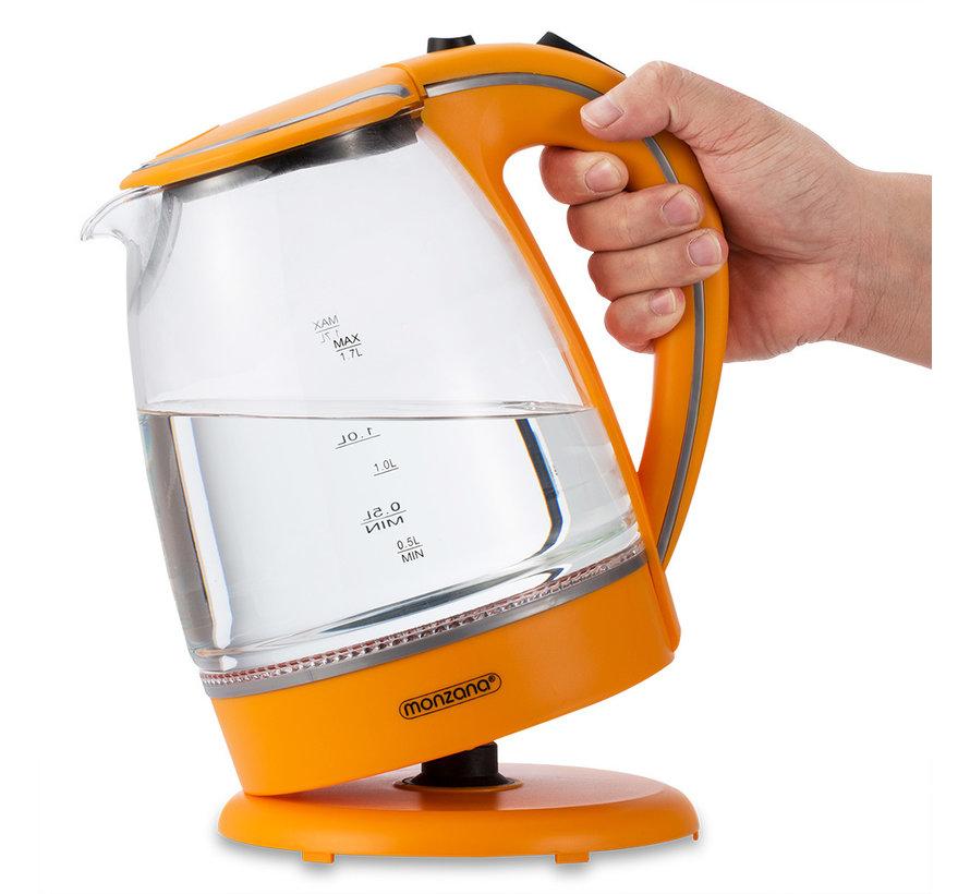 Deuba Waterkoker Oranje Glas 1,7L