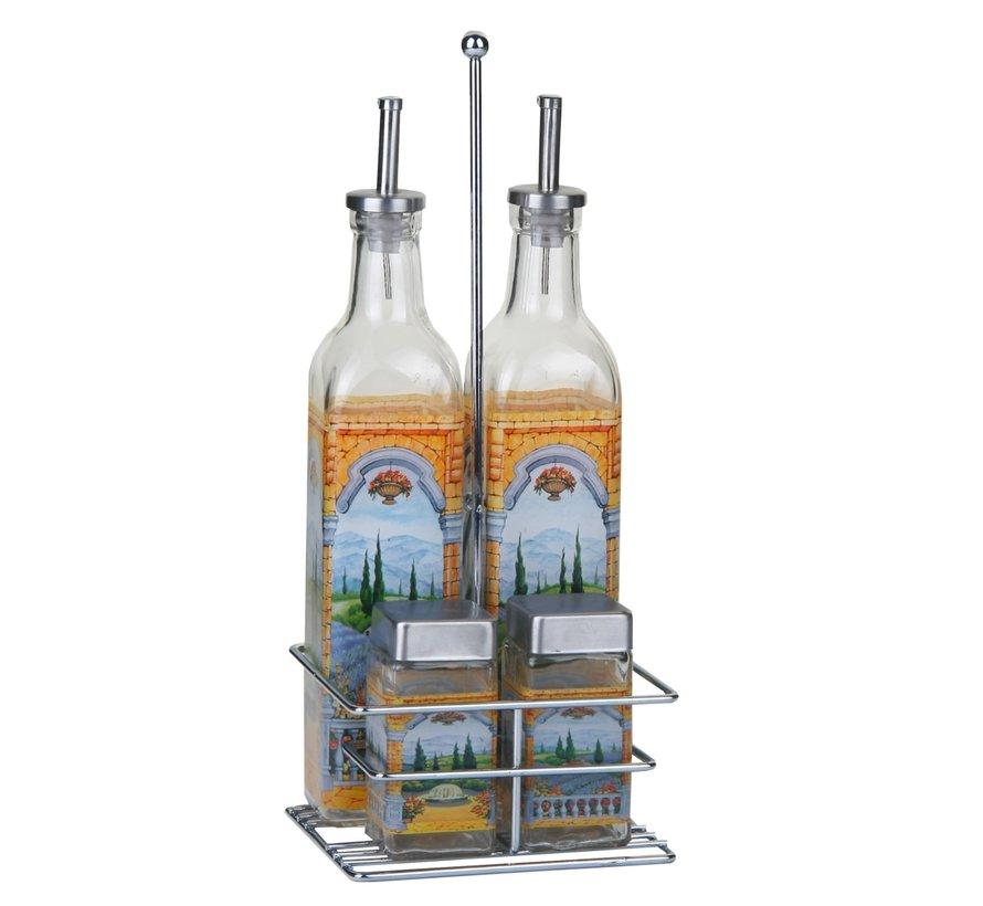 Euro Lady El-9099 2x Kruiden (80ml) en een fles (800 ml) olie en azijn