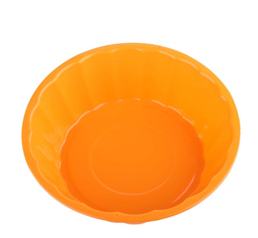 Euro Lady EL-SCM2- Ronde Siliconen Bakvormen Oranje- Ø19,5x5,5cm   -40 ° C tot 230 ° C
