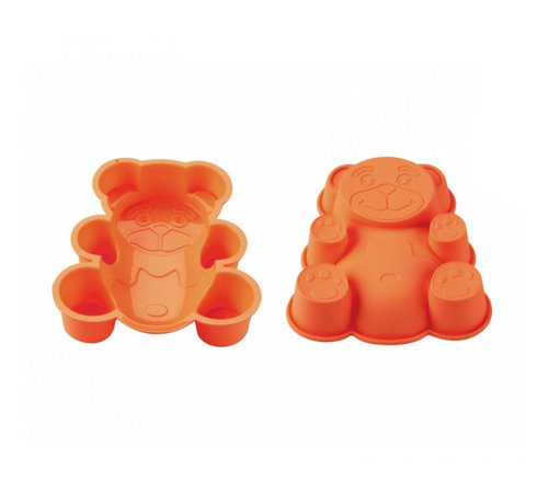Blaumann BlaumannSiliconen cakevorm gevormde beer Oranje