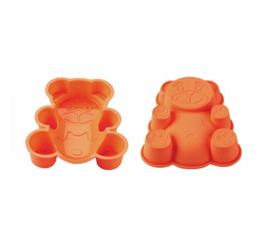 BlaumannSiliconen cakevorm gevormde beer Oranje