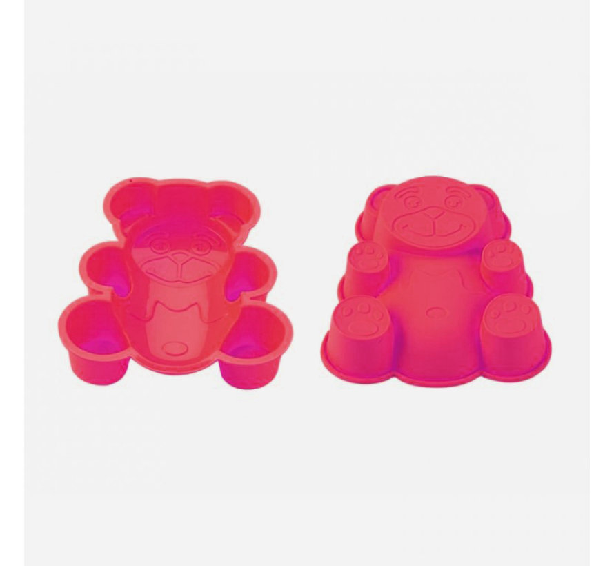 Blaumann Siliconen cakevorm gevormde beer Roze