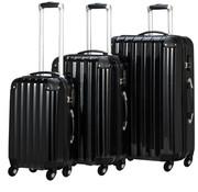Monzana Monzana Hardcase kofferset 3-delig zwart M/L/XL 36L/59L/89L