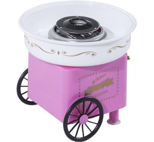 HOMCOM HOMCOM Suikerspinmachine roze