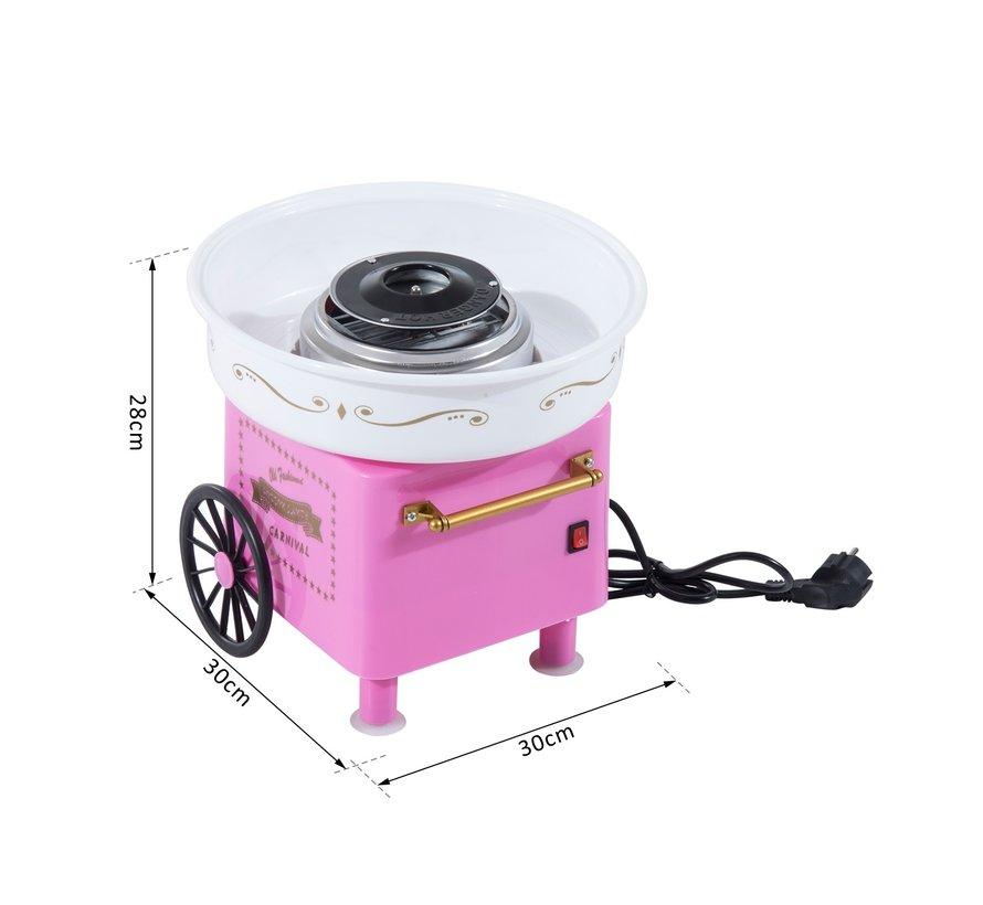 HOMCOM Suikerspinmachine roze