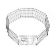 PawHut PawHut Dierenren/ hok voor honden, konijnen en kippen - staal - zwart - 71 x 61cm