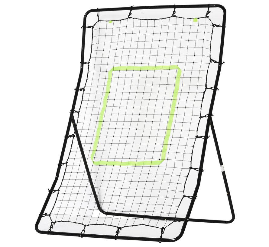 HOMCOM Rebounder voetbalnet staal zwart 75 x 126cm