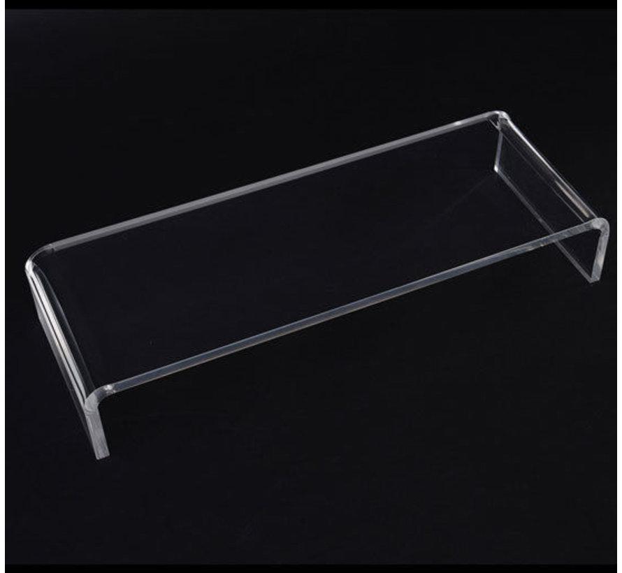 HOMCOM Monitorstandaard acryl perspex doorzichtig