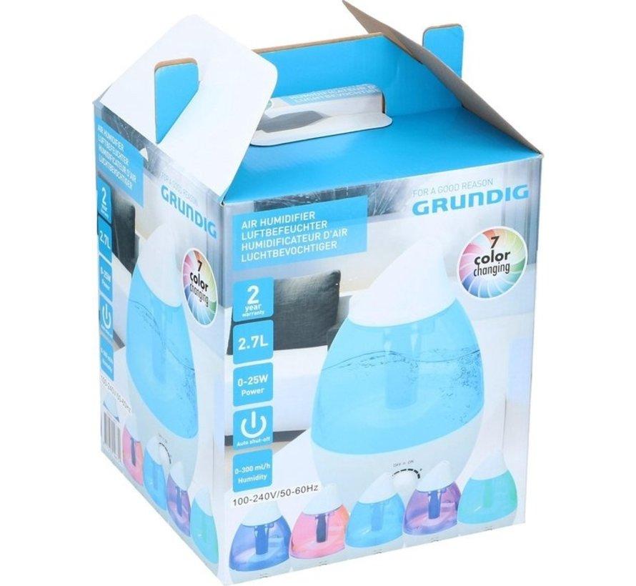 Grundig aromadiffuser/luchtbevochtiger - 2,7l - 25W -  LED 7 kleuren